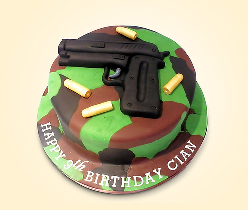 gun birthday cake on birthday cake pic new