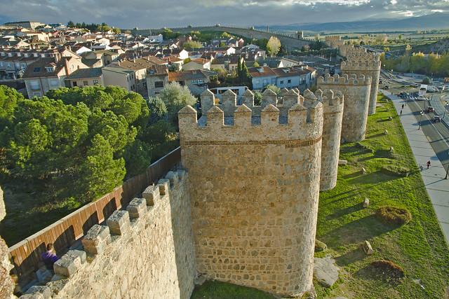 Hradby Avily pohľad z veže múru
