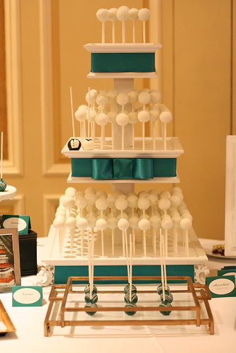 Cake Pop Wedding Stand with Emerald Bow | by Sweet Lauren Cakes