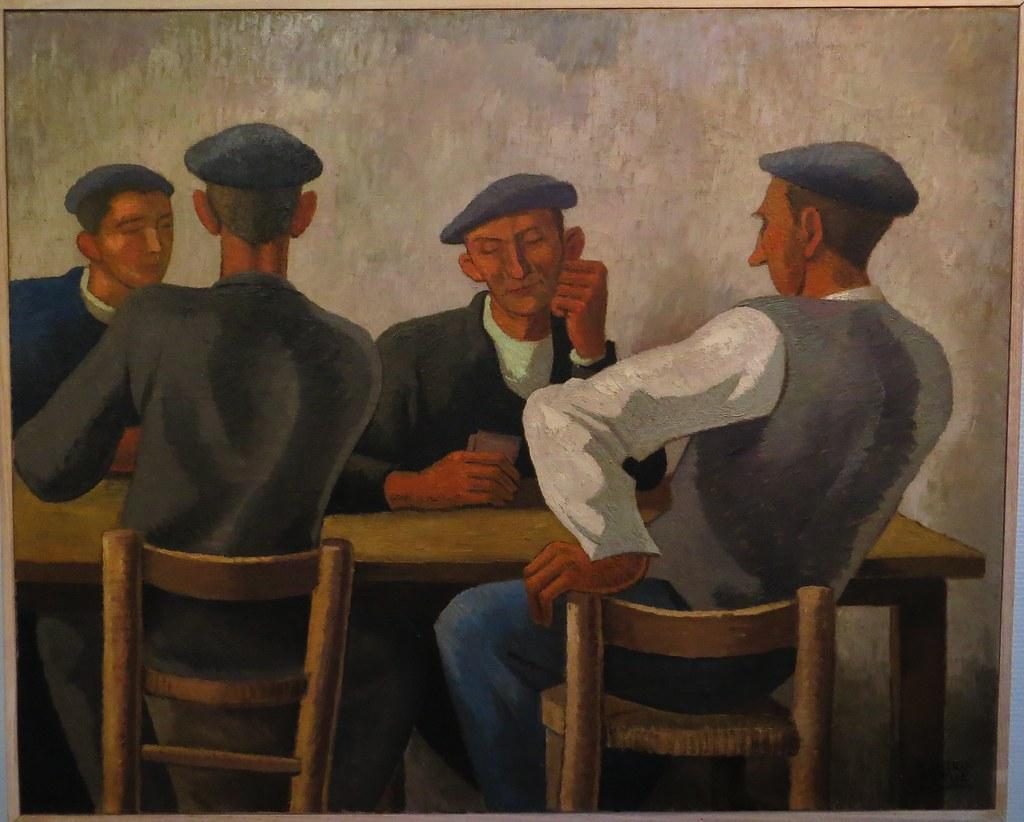 """""""Joueurs de mus"""" (1932), Ramiro Arrue y Valle (1892-1971 ..."""