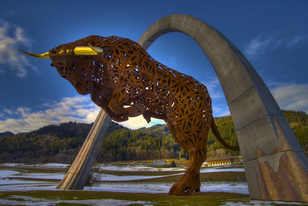 Red bull sculpture spielberg austria