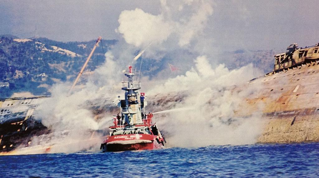 Sea University Queen Elizabeth On Fire 9 Jan 1972 Flickr