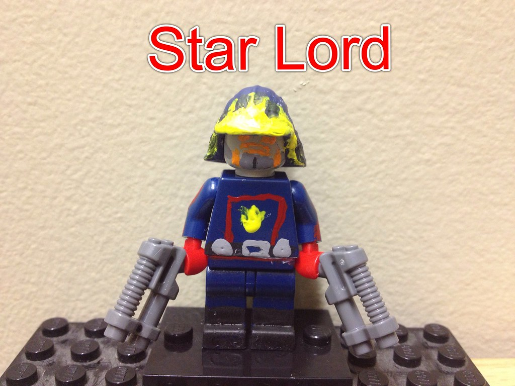 Lego Marvel Star Lord Custom Lego Star Lord