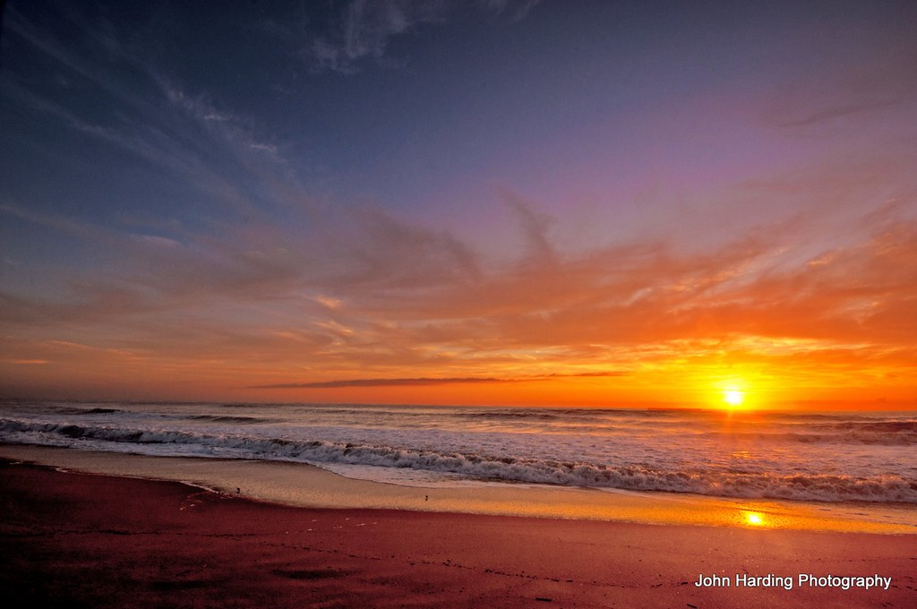 a winter sunrise on the outer banks