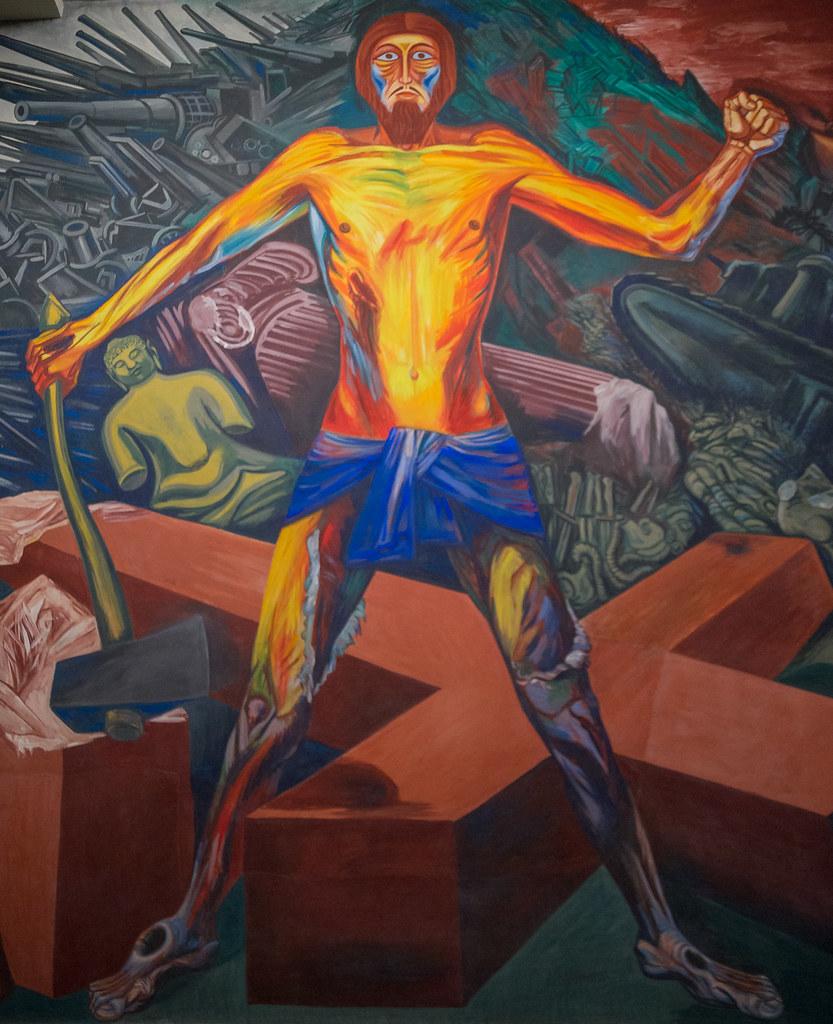 The orozco murals at dartmouth jose clemente orozco s for Dartmouth mural