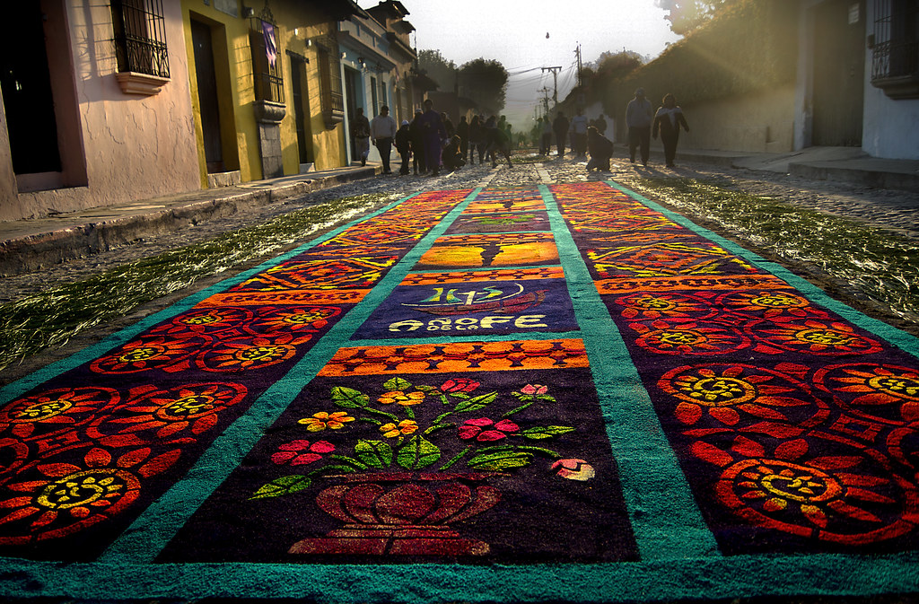 Alfombras de antigua guatemala 5to domingo de cuaresma for Alfombras de antigua