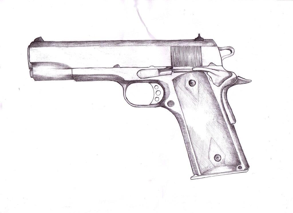 Line Art Gun : Handgun drawings imgkid the image kid has it