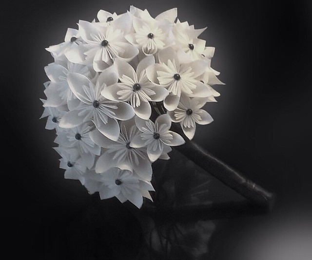 stephanie 39 s origami paper flowers wedding bouquet flickr