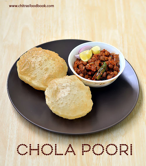 How to make chola poori at home
