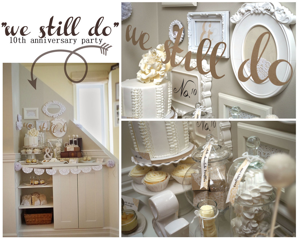 We still do 10th anniversary party my wedding for 25th wedding anniversary decoration ideas