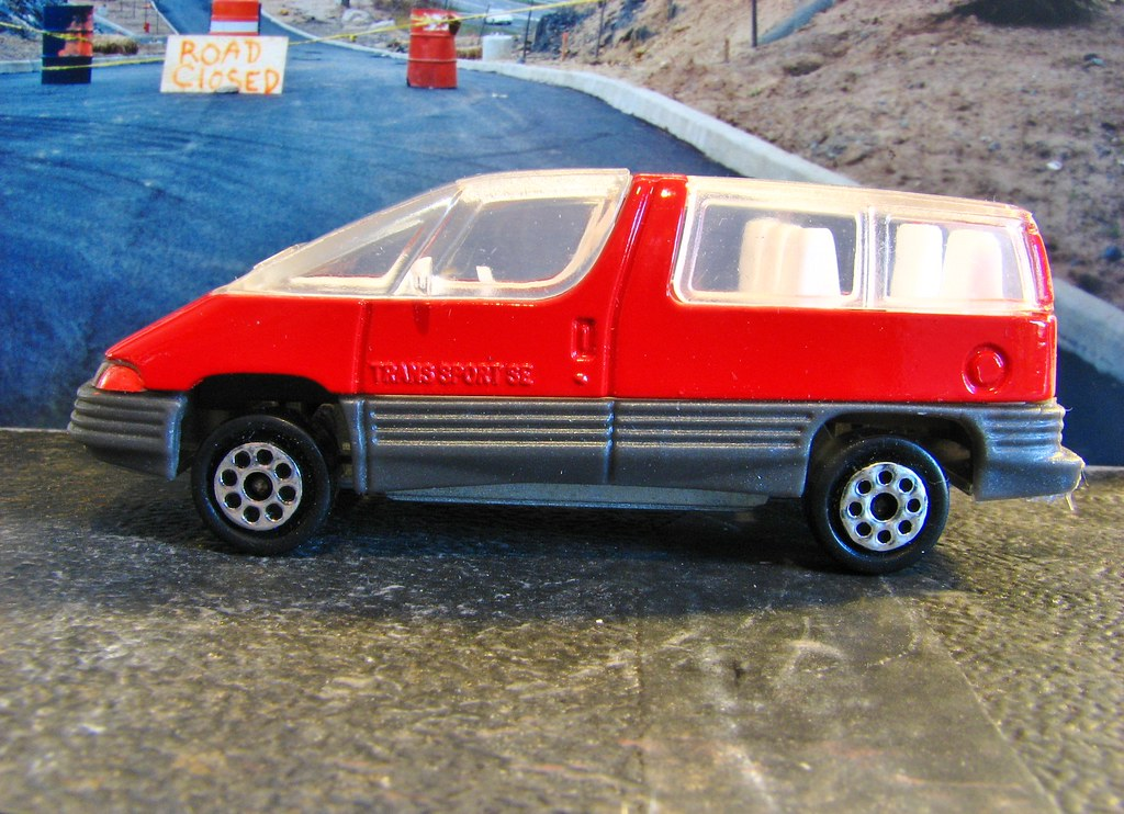 A Small Scale 1990 Pontiac Trans Sport From Majorette In