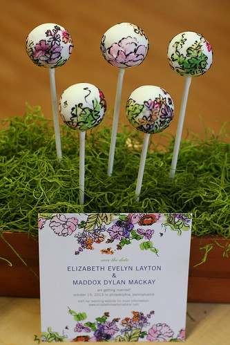 Watercolor Cake Pops with Matching Invitation | by Sweet Lauren Cakes