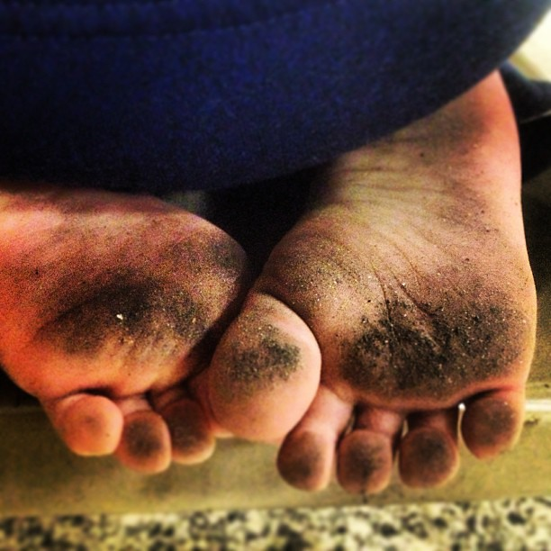 My Little Cousins Dirty Feet After Hours Of Playing At A B