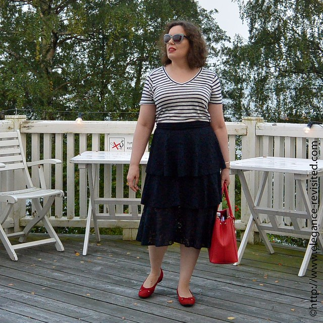 wearing frills over 40