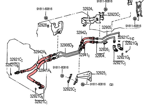 lexus gx470 transmission with Tips On Fabricating Transmission Cooler Lines on 2002 Lexus Es300 Engine Block likewise Fj Cruiser Pen Drawing additionally Toyota 4runner Ta a And Tundra How To Repair And Replace Parking Brake Cables 417915 moreover How To Read Car Wiring Diagrams further Allison B400r Manuals.