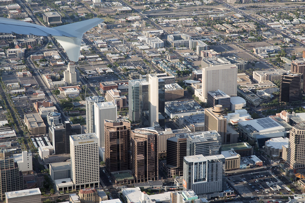 Aerial View Of Downtown Phoenix Arizona Aerial