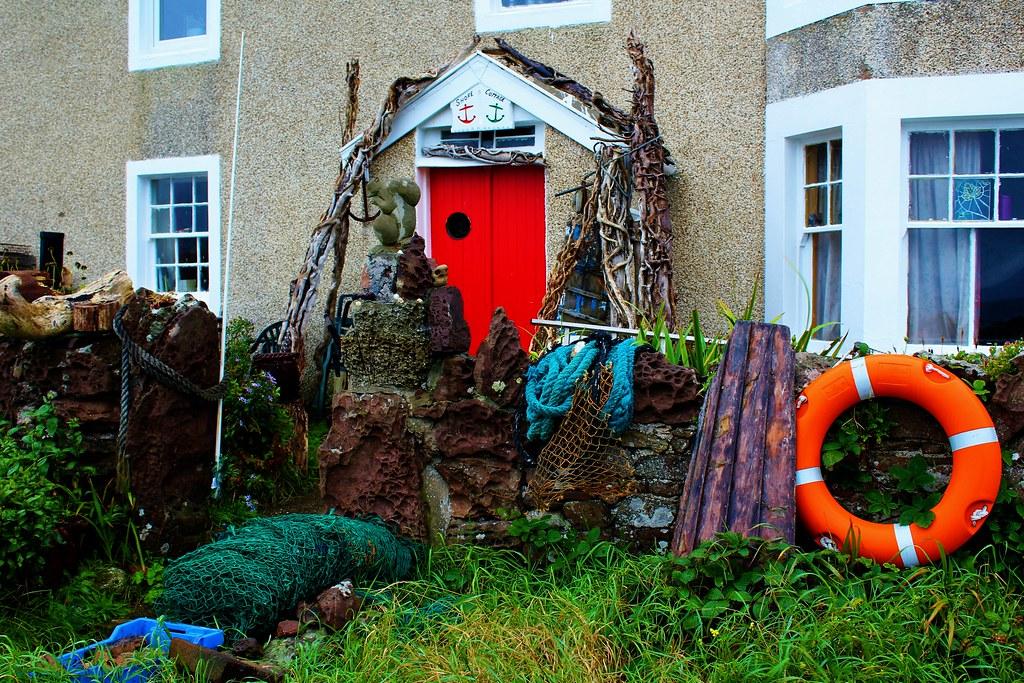 Maritime House at Portencross Castle, Scotland.