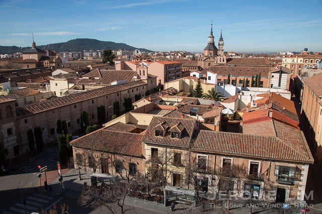 Alcalá de Henares. The town is also known for its famous son, Miguel de Cervantes, Spain's most celebrated literary figure.