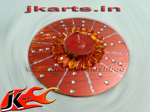Best out of waste from cd spinner pooja juriani flickr for Best out of waste