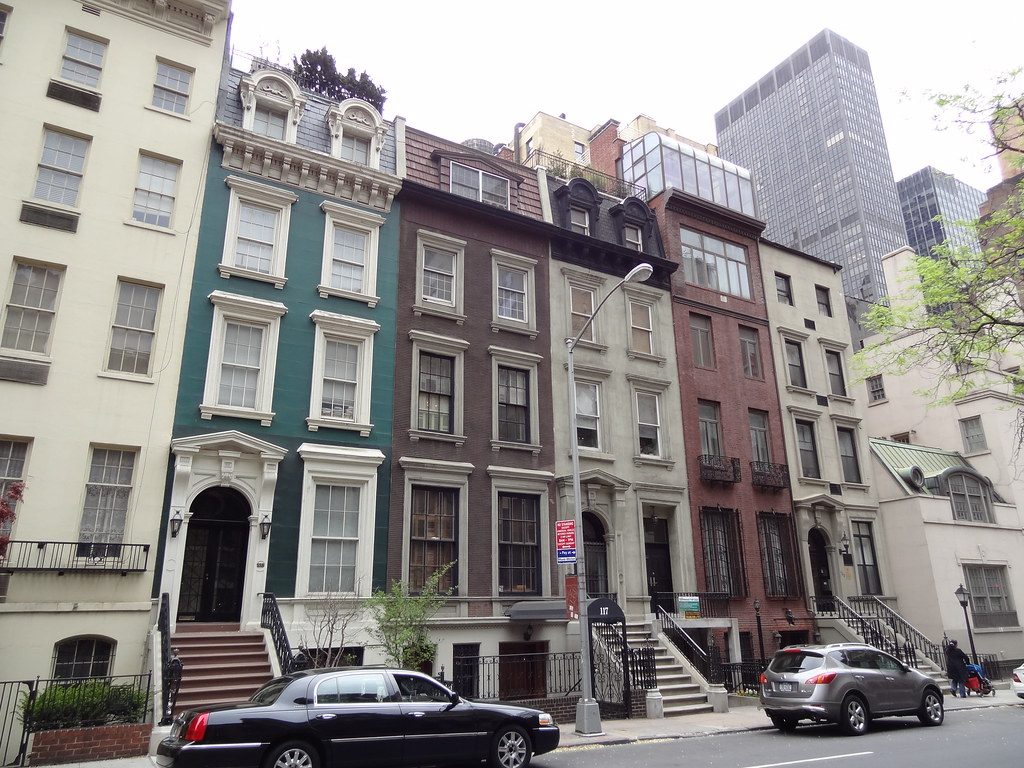 New York Row Houses : Iwalked new york city s colorful row houses take a