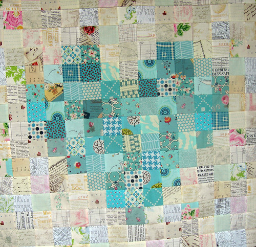 Love remains - Pixelated heart - Quilt top finished | by paulapatchwork