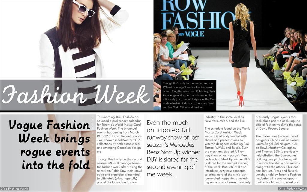Fashion Magazine Spread