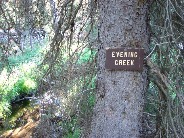 Sign for Evening Creek
