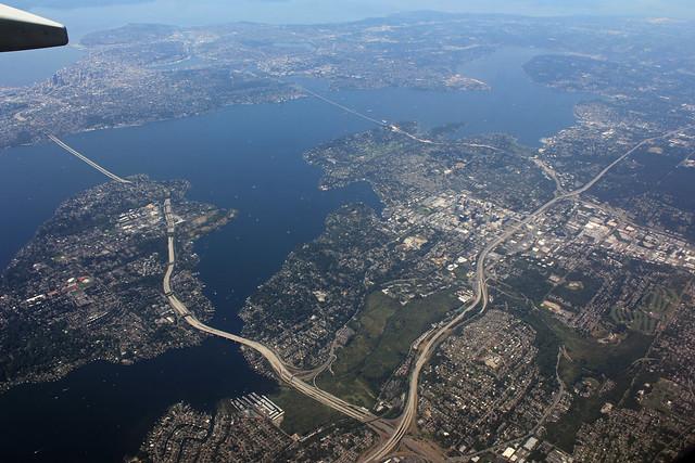 Seattle Bellevue And Lake Washington Flickr Photo