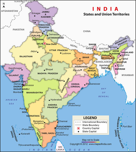 india political map jaya kamlani flickr. Black Bedroom Furniture Sets. Home Design Ideas