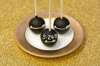 Black Arrow and Wedding Date Themed Cake Pops | by Sweet Lauren Cakes