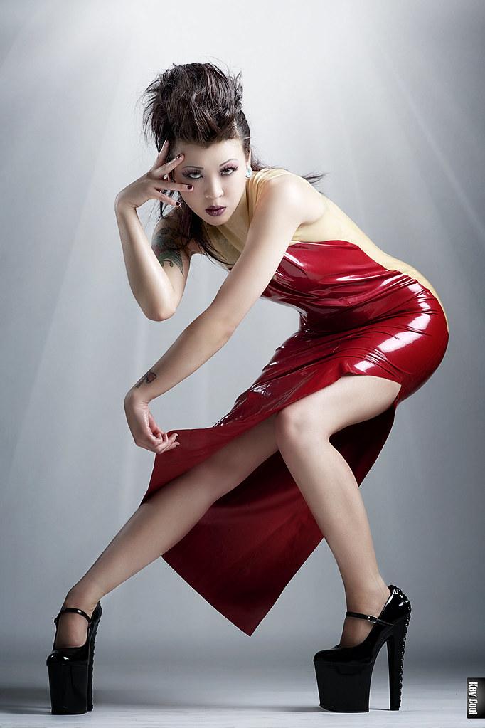 latex dress gratis fransk