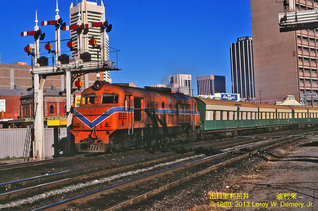 "World Class Motors >> ""Australind"" train and X Class locomotive, Perth, 1980 ..."