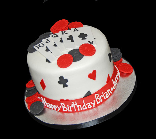 Poker Themed Cake Image