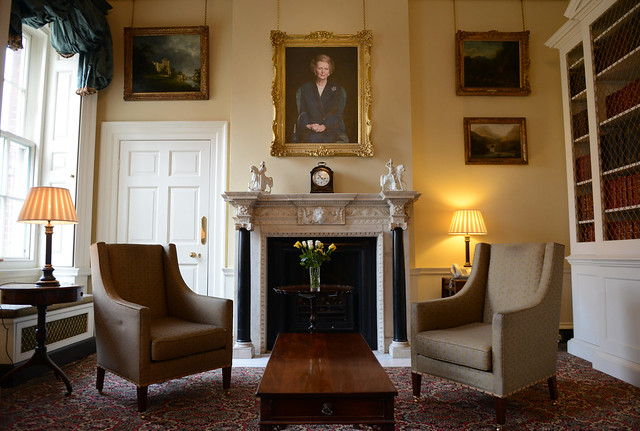Lady Thatcher portrait in the Study