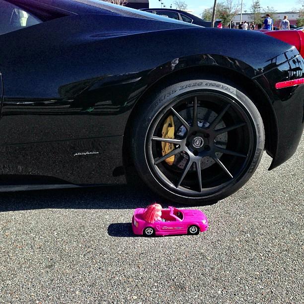 Ferrari Allblack Black Rims Mustang Rotors Sick Fa