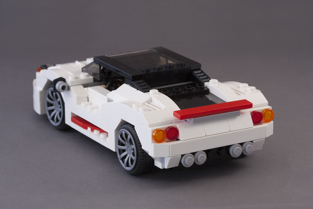 Lego White Sports Car