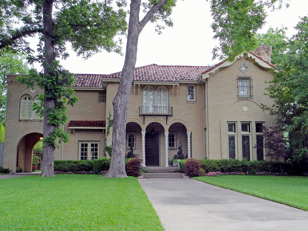 Mediterranean Revival Style House Swiss Avenue Dallas Flickr