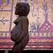 Wooden Pregnant Woman Statue at The Museum of Ethnology in Hanoi, Vietnam