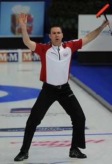 Edmonton Ab.Mar8,2013.Tim Hortons Brier.N.L. skip Brad Gushue.CCA/michael burns photo | by seasonofchampions