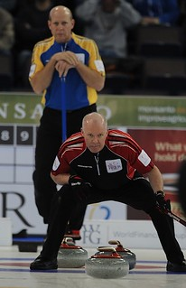 Edmonton Ab.Mar8,2013.Tim Hortons Brier.Ontario skip Glenn Howard.Alberta skip Kevin Martin.CCA/michael burns photo | by seasonofchampions