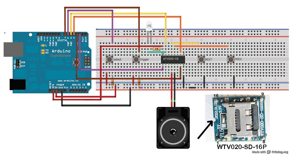 Wise time with Arduino: Play WAV files from SD card