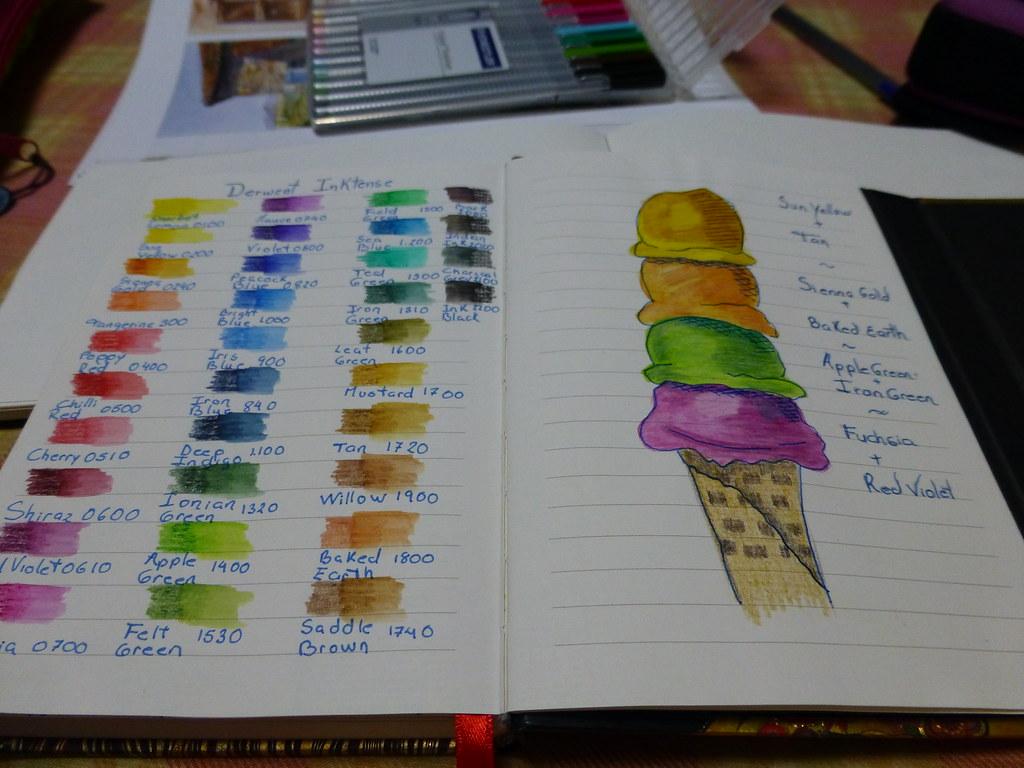 Color Chart Derwent Inktense Aileen Montero Flickr