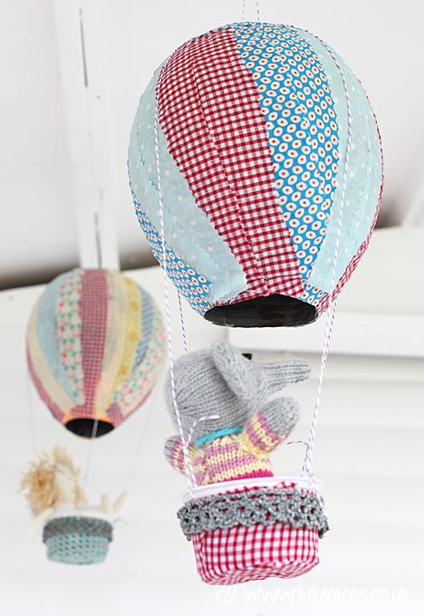 Paper Mache Hot Air Balloons Paper And Fabric Mache Hot