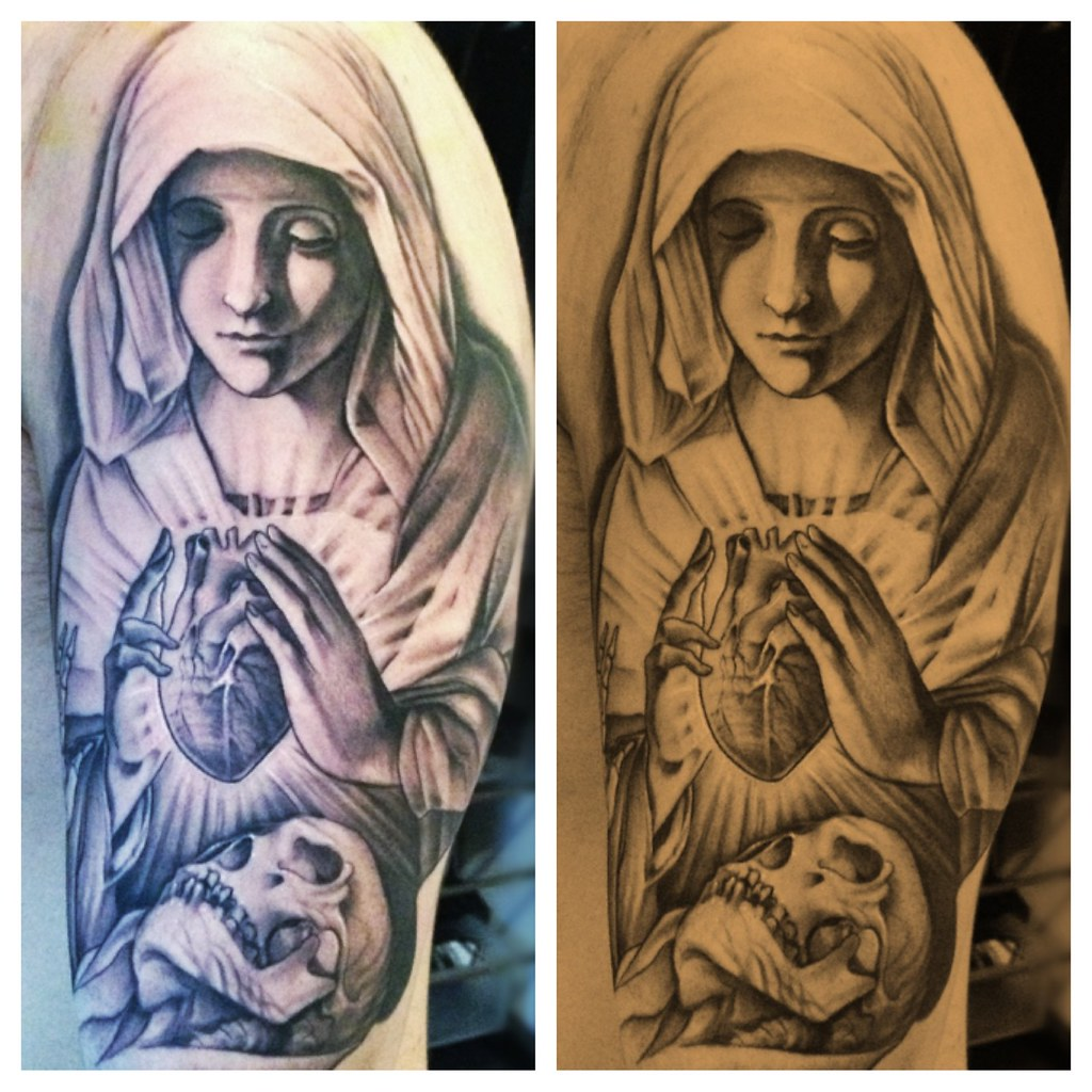 Tattoo Designs Mama Mary: Religious,john Lewis,tattoo,skull,virgin Mary ,tattoo