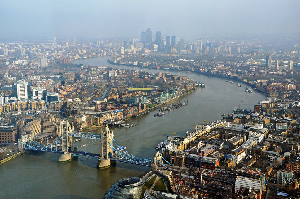 The Thames From The Shard Looking Down River From The Shar Flickr