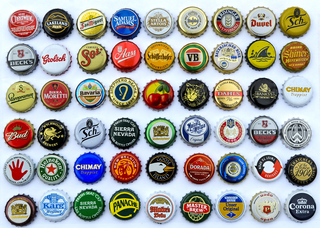 54 colourful beer bottle caps how many have you tried for What to make with beer bottle caps