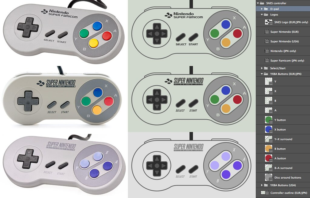 Super Nintendo controllers in Photoshop | Flickr - Photo Sharing!