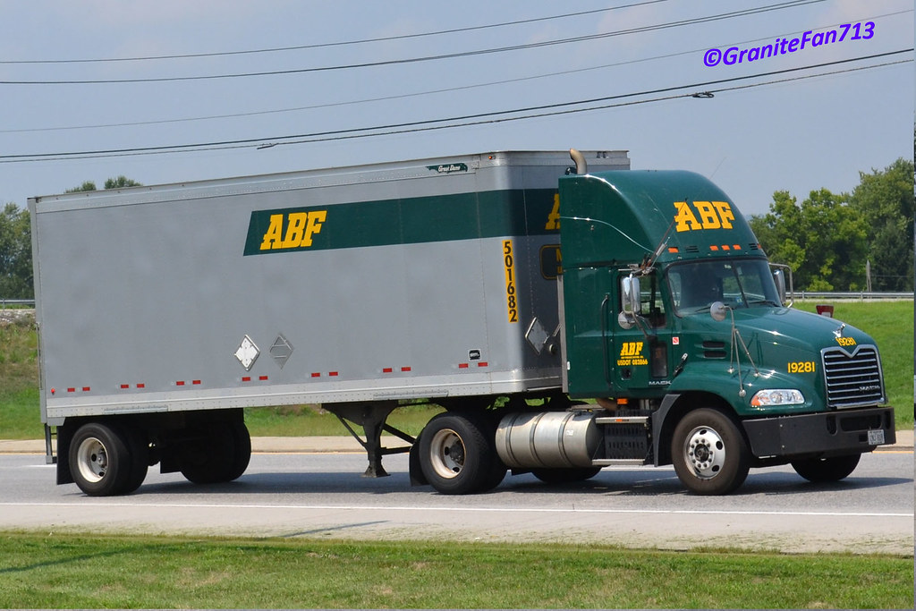 ... ABF Freight Mack Pinnacle with a Pup | by Trucks, Buses, & Trains by