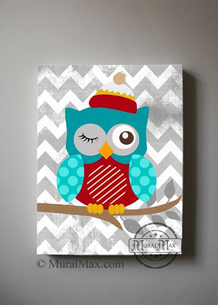 owl canvas boy s wall art owl canvas art baby nursery flickr