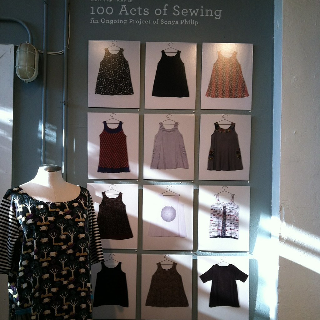 First Floor 100 Acts Of Sewing At Lillstreet Art Center